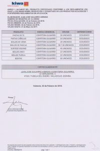 Certificado ecológico 2
